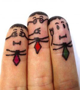 finger man, not hear, not see